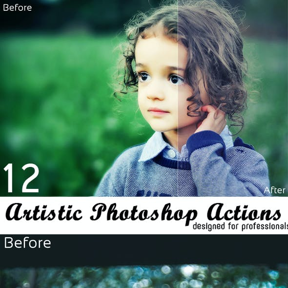 12 Artistic Photoshop Actions
