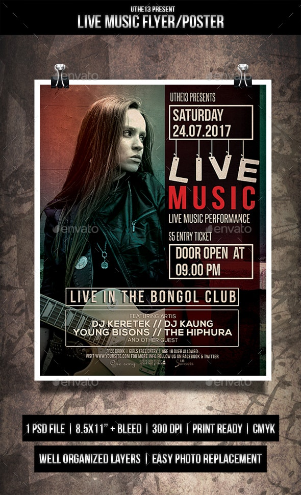 Live Music Flyers / Poster - Events Flyers