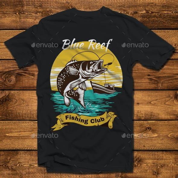 Fishing Club Design Tshirt