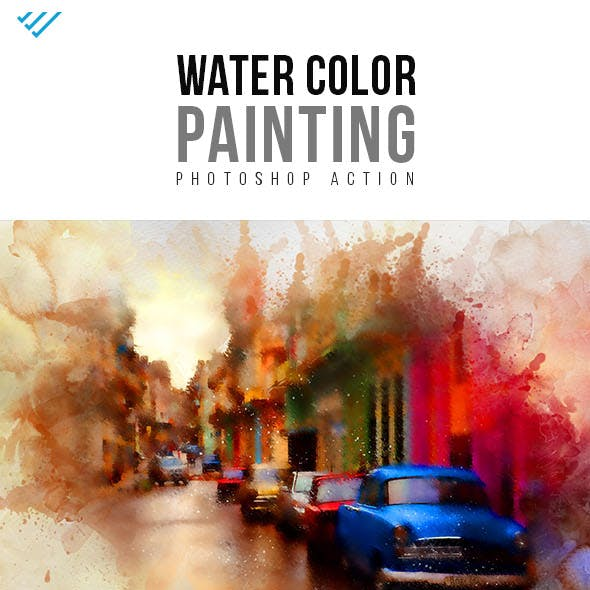 Water Color Painting Photoshop Action