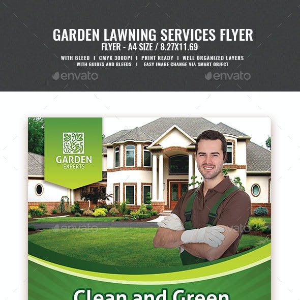 Landscape and Gardening Flyer