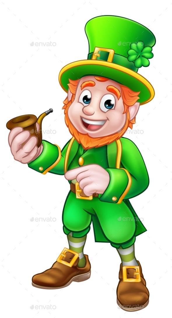 Leprechaun St Patricks Day Illustration - Objects Vectors