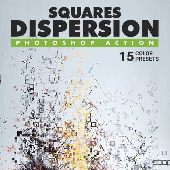 Squares Dispersion Photoshop Action