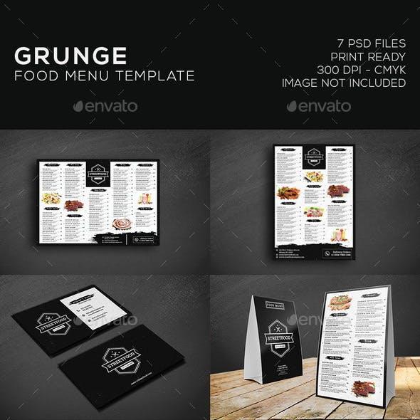 Grunge Food Menu