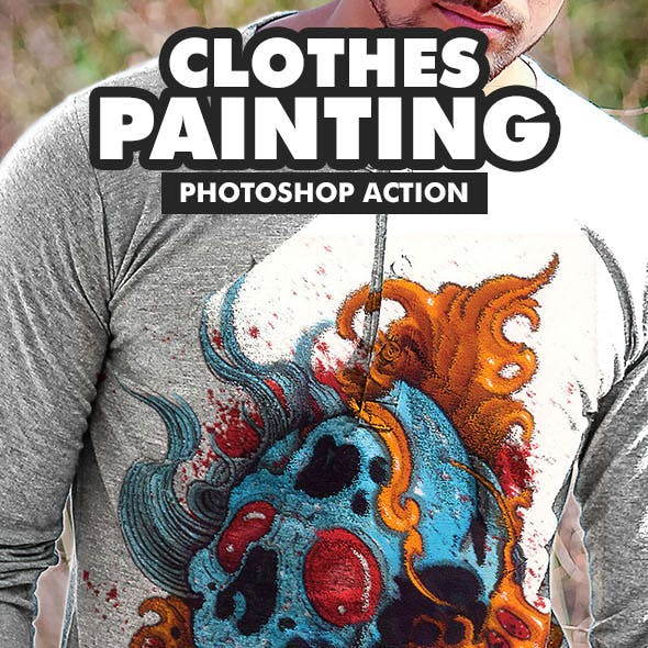 Clothes Painting Photoshop Action