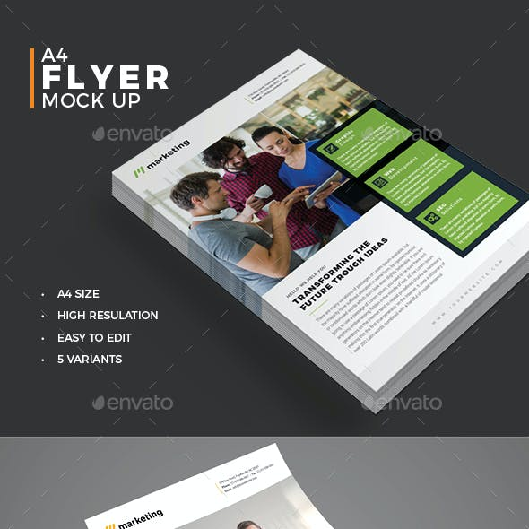 Photorealistic Flyer Mockup Pack
