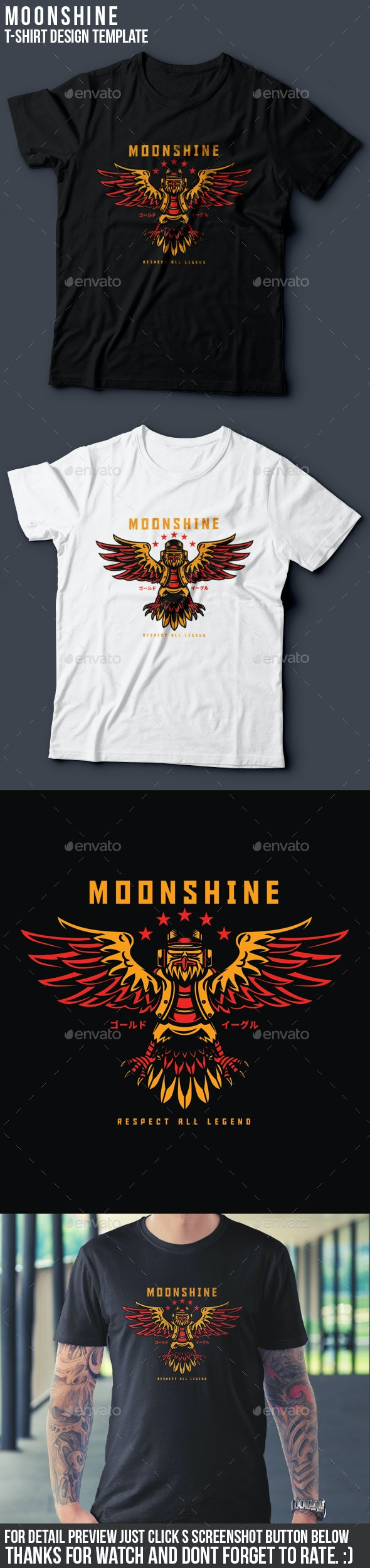 Moonshine T-Shirt Design - Clean Designs