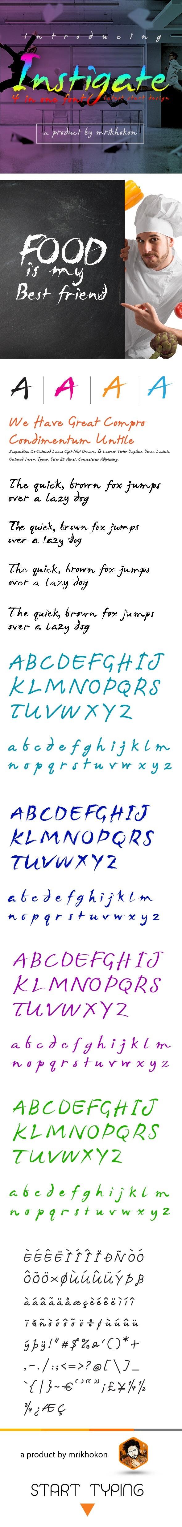 Instigate Font - Handwriting Fonts