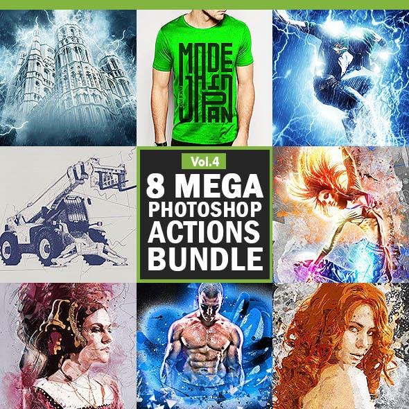 8 Mega Photoshop Actions Bundle - Vol.4
