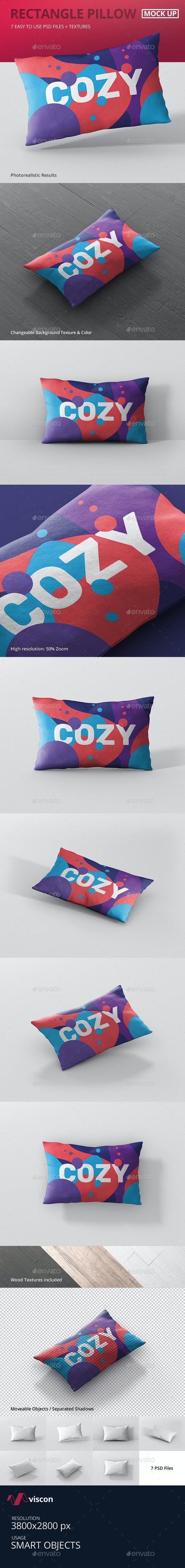 Pillow Mockup - Rectangle - Miscellaneous Product Mock-Ups