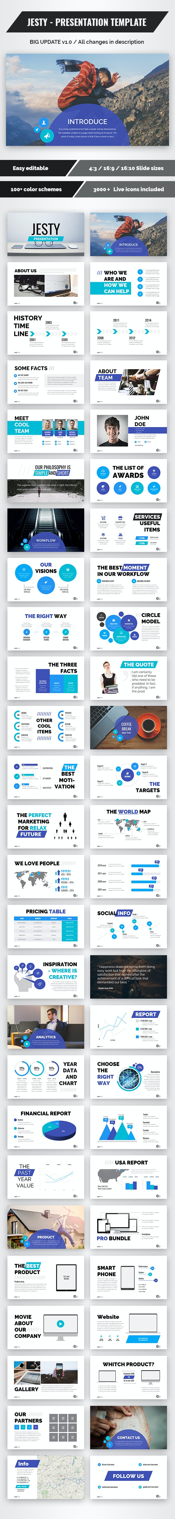 Jesty - Powerpoint Presentation Template (update v1.0) - Business PowerPoint Templates