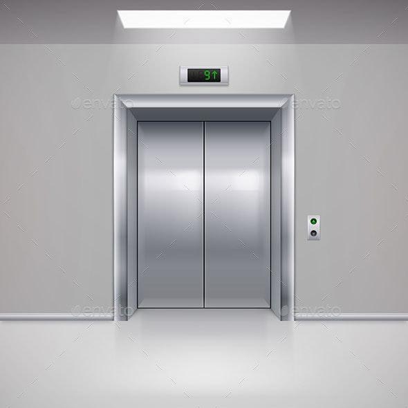 Elevator Doors - Miscellaneous Vectors