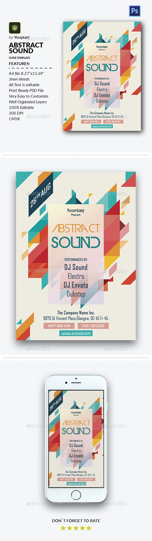 Abstract Sound Flyer Template - Events Flyers