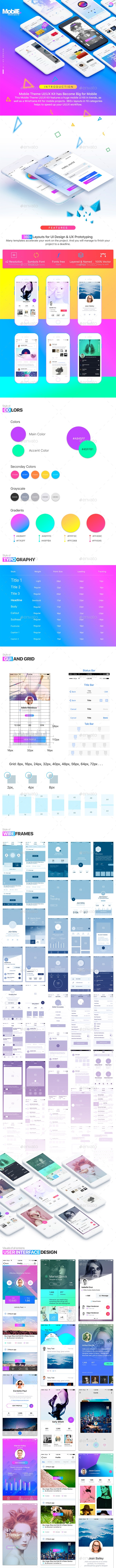 Mobile Theme UI/UX Kit - User Interfaces Web Elements