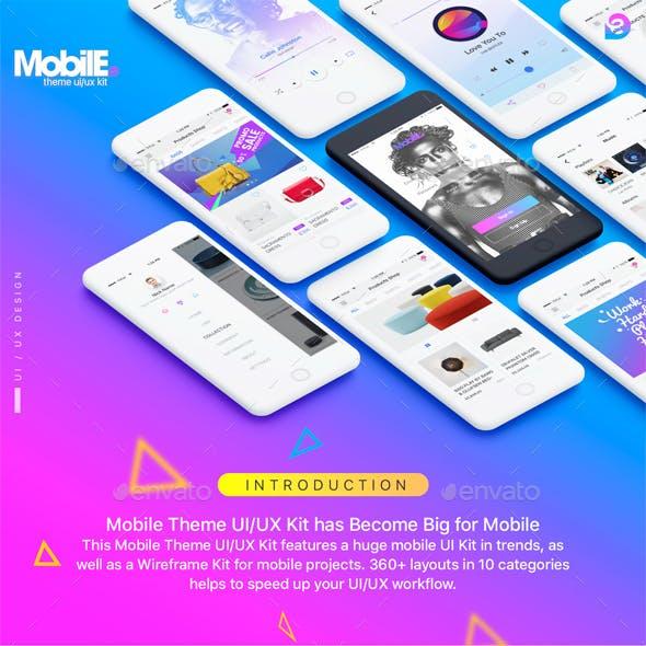 Mobile Theme UI/UX Kit