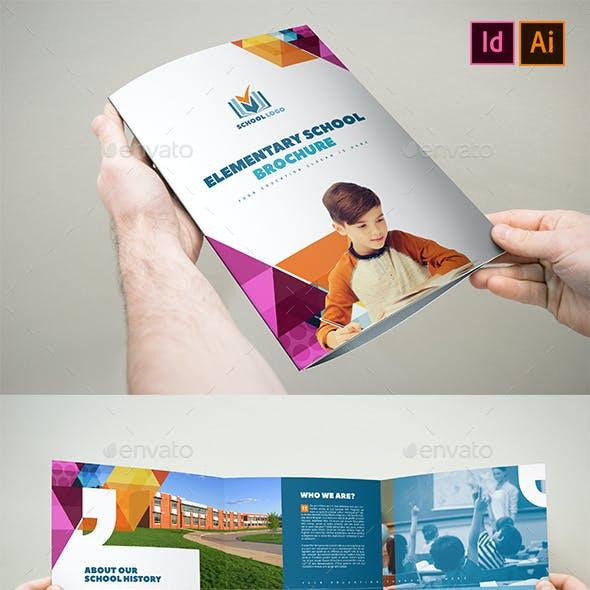 Elementary School Brochure Template 3xA4 Trifold