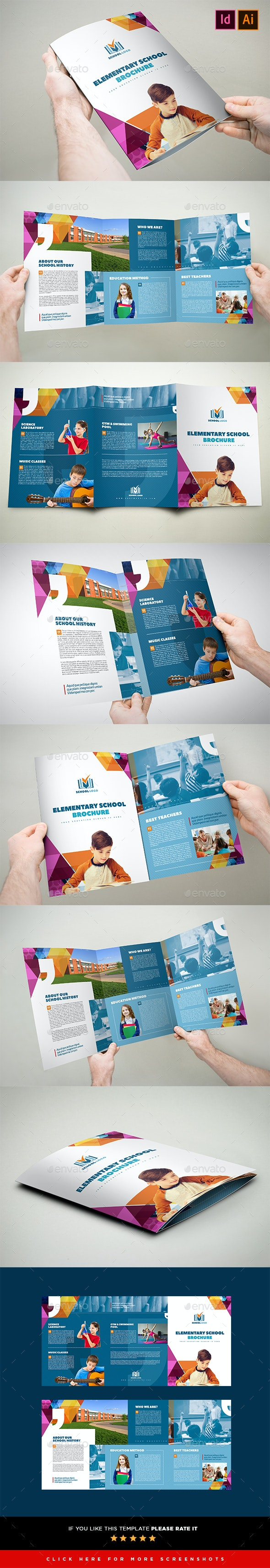 Elementary School Brochure Template 3xA4 Trifold - Corporate Brochures