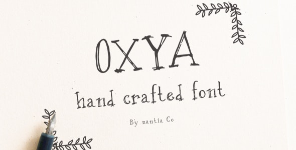 OXYA Hand crafted Font - Hand-writing Script