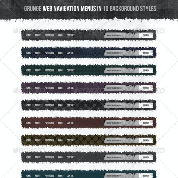 Grunge Web Navigation Menus