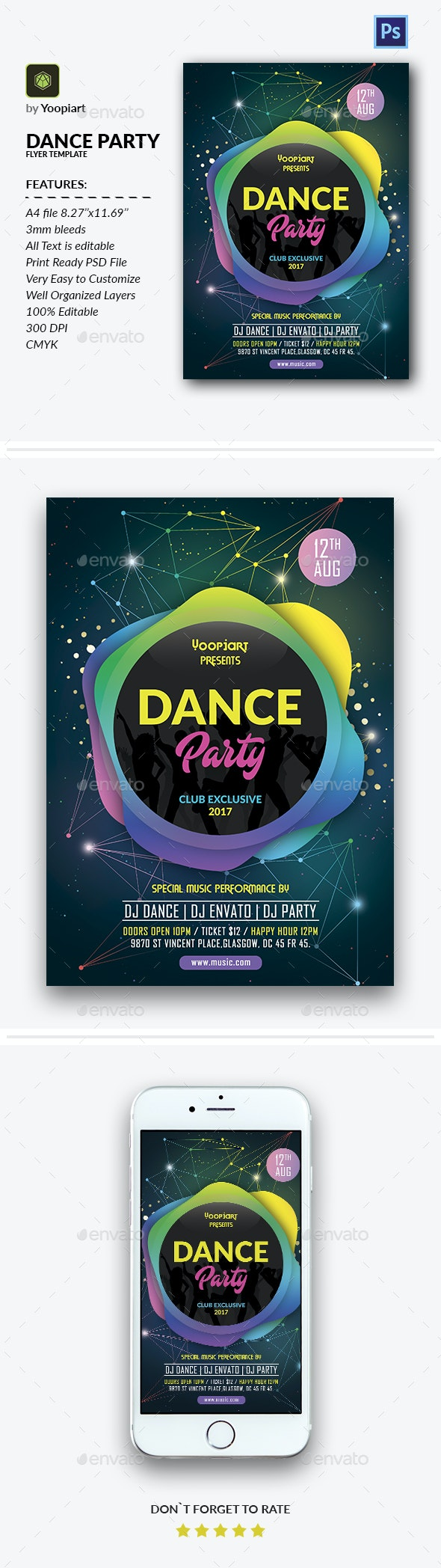 Dance Party Flyer Template - Events Flyers