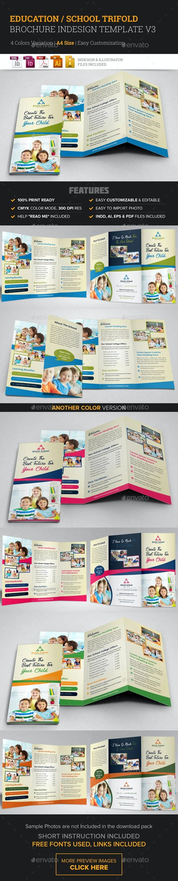 Education School Trifold Brochure v3 - Corporate Brochures