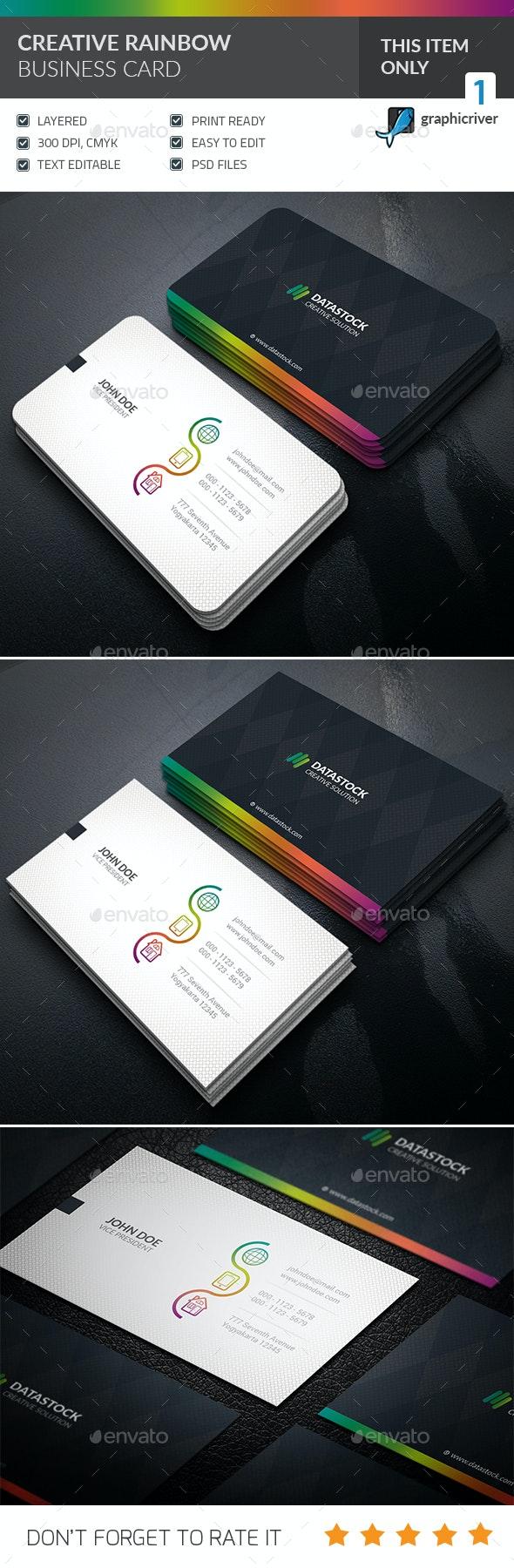 Creative Rainbow Business Card - Creative Business Cards