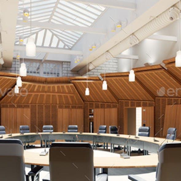 3d Render Conference Room