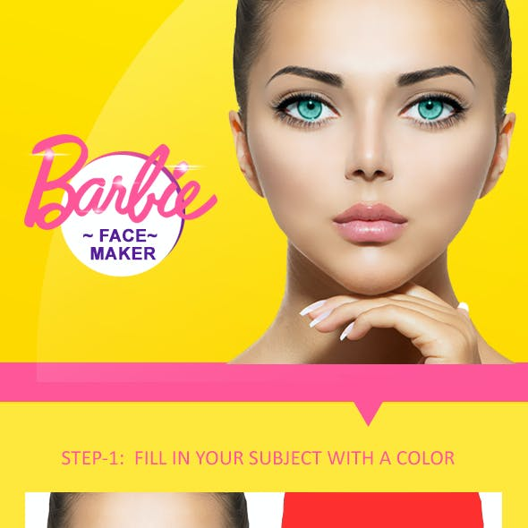 """Barbie Face Maker PS Action"""
