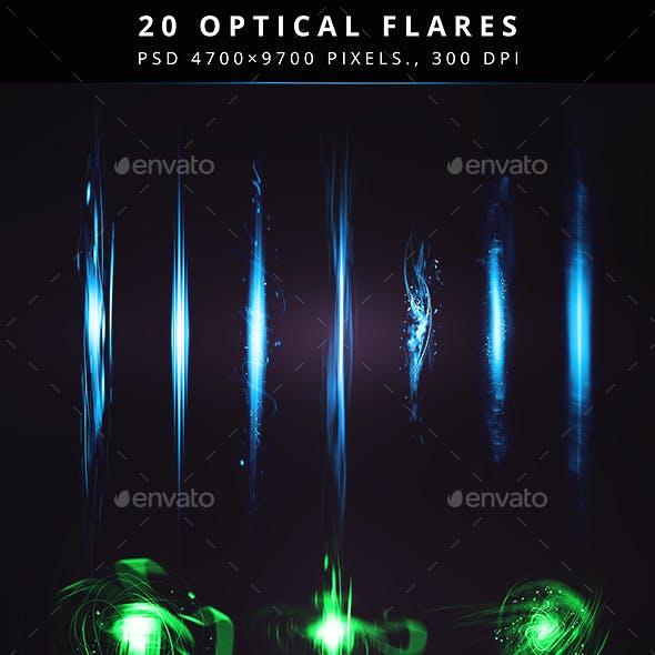 20 Optical Flares and Magic Elements