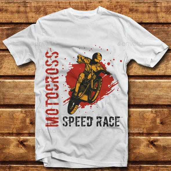 Motocross Speed Race Tshirt Design