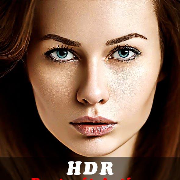 HDR Portrait Action