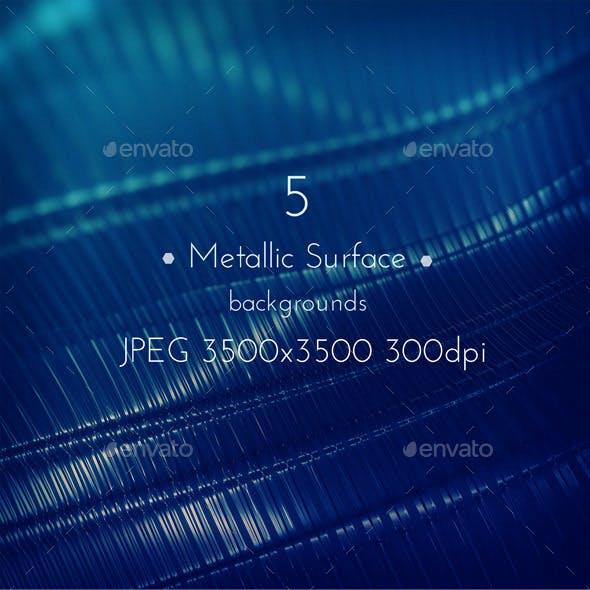 Metallic Techno Surface Background