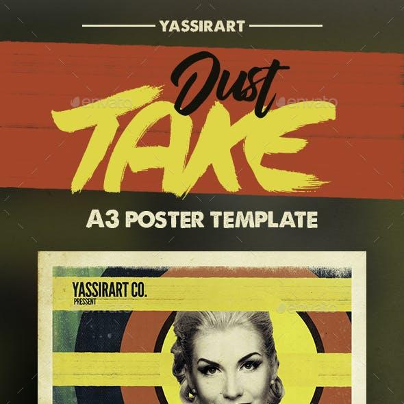 A3 Dj Poster Art Template