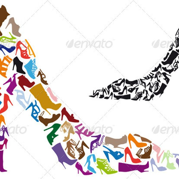 Shoe Silhouettes, Vector