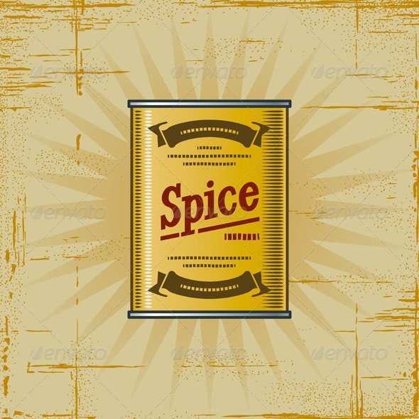Retro Spice Can - Food Objects