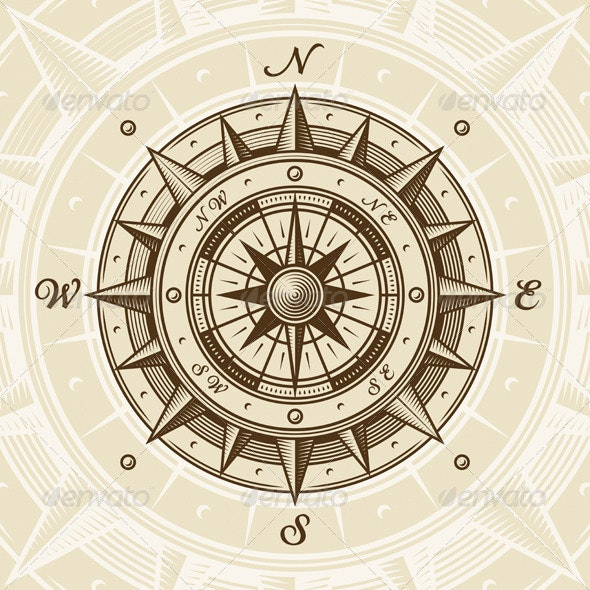 Vintage Compass - Travel Conceptual