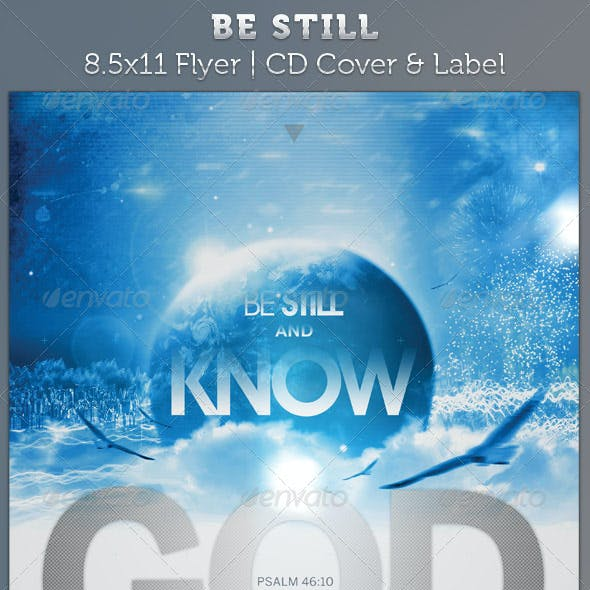 Be Still Full Page Flyer and CD Cover Template