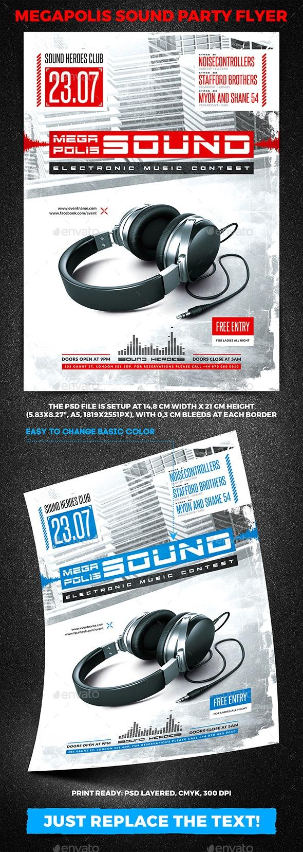 Megapolis Sound Party Flyer vol.3 - Clubs & Parties Events