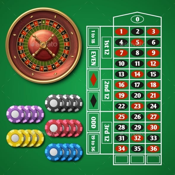 Online Casino Roulette and Gambling Table