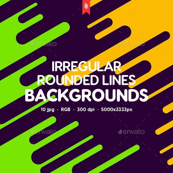 Flat Irregular Rounded Lines Backgrounds
