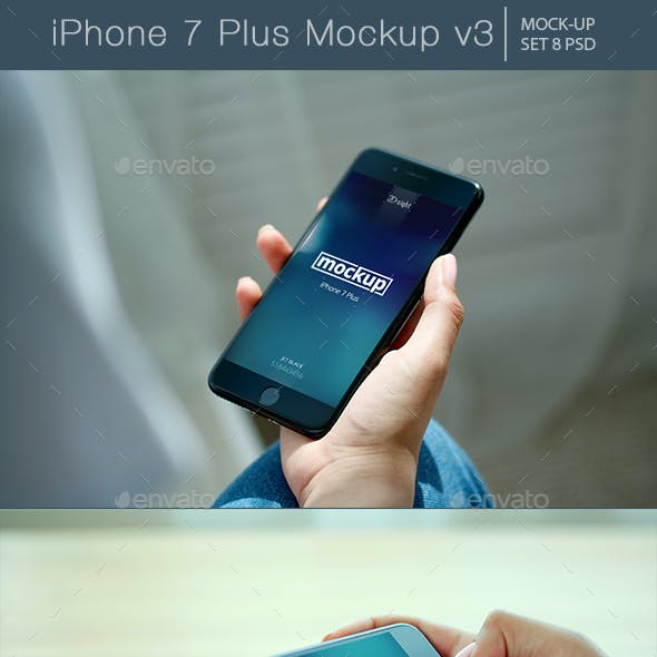 iPhone 7 Plus Mockup v3