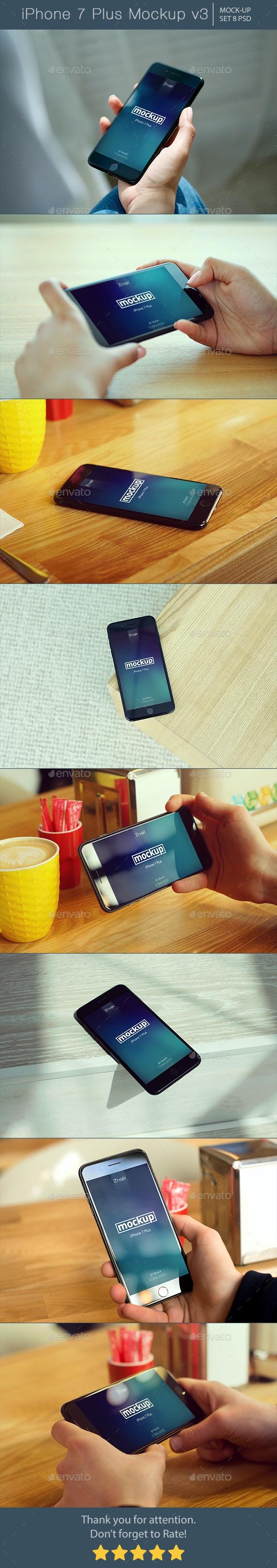 iPhone 7 Plus Mockup v3 - Mobile Displays