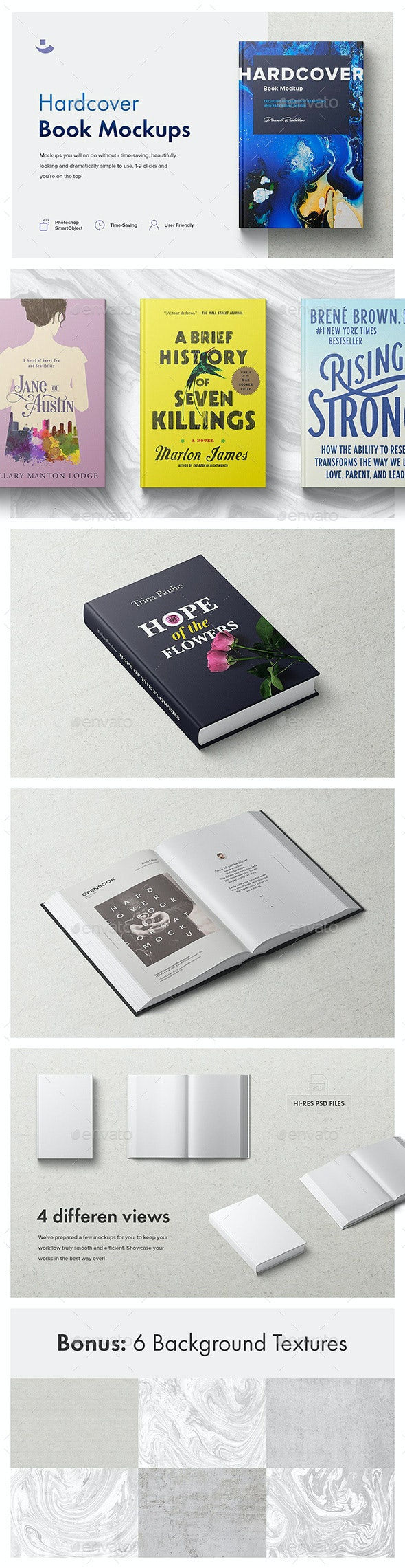 Hardcover Book Mockup Set - Books Print