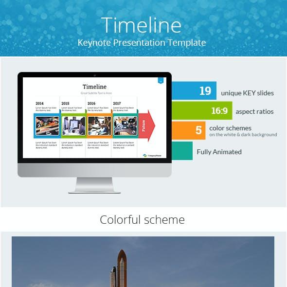 Timeline Keynote Presentation Template