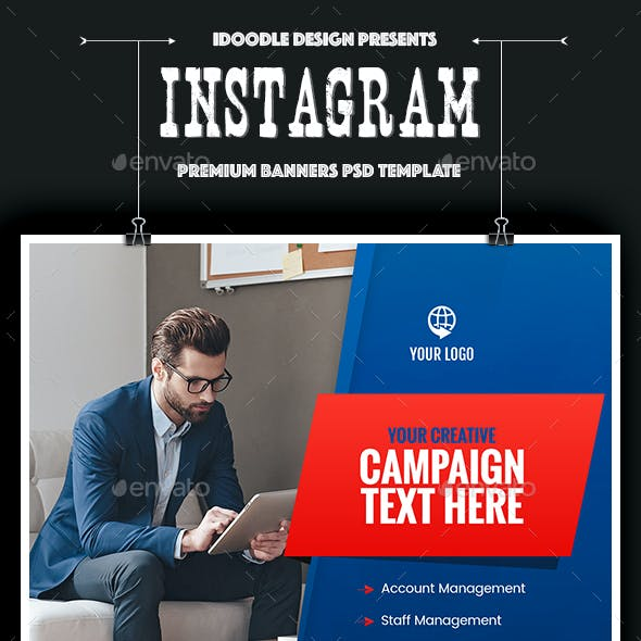Multipurpose, Business, Startup Instagram Banners Ad - 25PSD