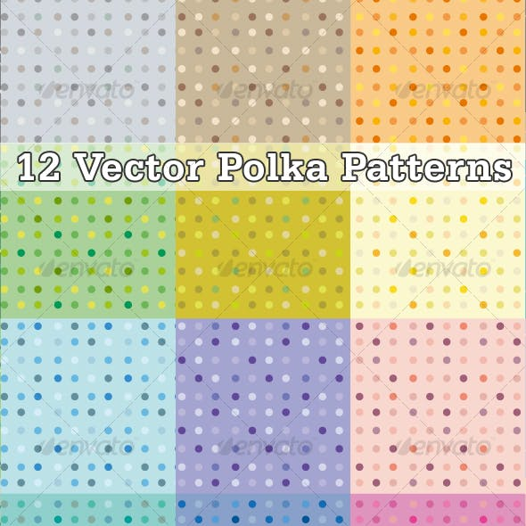Dots vector patterns
