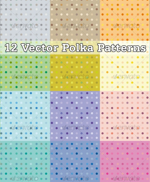 Dots vector patterns - Patterns Decorative