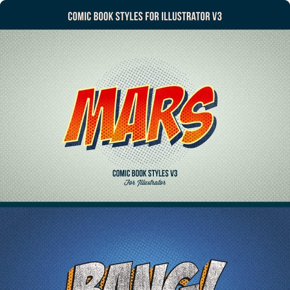 Comic Book Styles for Illustrator V3