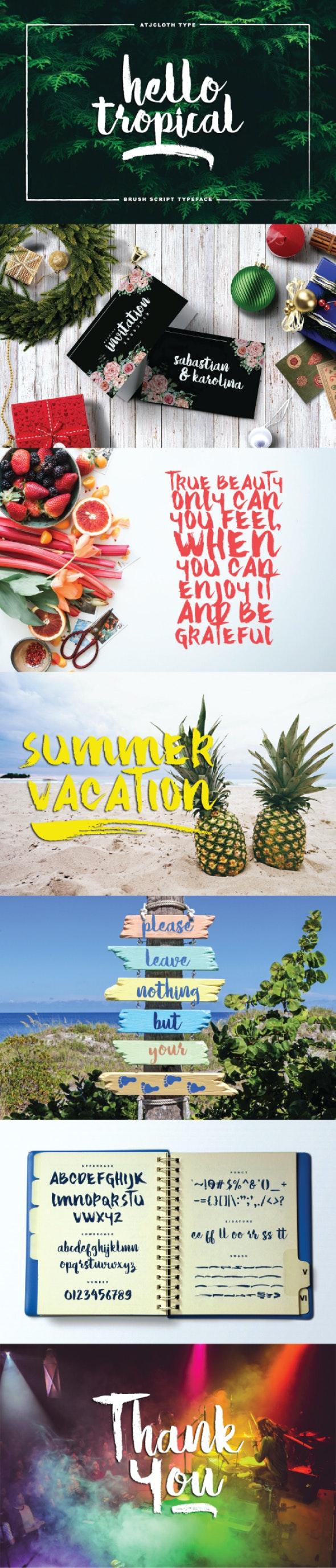 Hello Tropical - Script Fonts