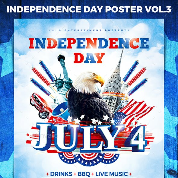 Independence Day Party Poster vol.3